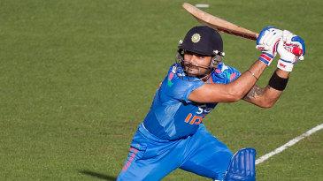 Virat Kohli pierces a gap on the off side