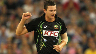 Josh Hazlewood collected his best T20 figures of 4 for 30