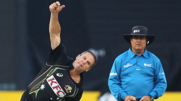 Brad Hodge opened the bowling in his comeback match