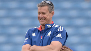 Ashley Giles oversees England training