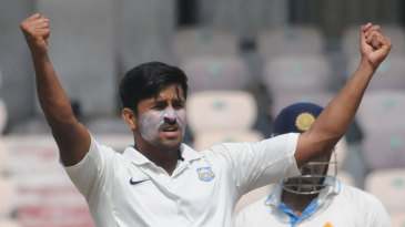 Shrikant Mundhe celebrates a wicket