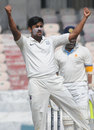 Shrikant Mundhe celebrates a wicket, Karnataka v Maharashtra, Ranji Trophy, Final, Hyderabad, 3rd day, January 31, 2014