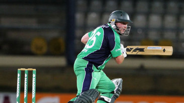 Andrew Poynter was the only Ireland batsman to make a fifty