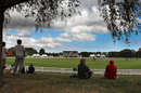 Spectators watch the match in serene surroundings at the Bert Sutcliffe Oval, Scotland v United Arab Emirates, World Cup 2015 Qualifier, final, Lincoln, February 1, 2014