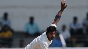 Vinay Kumar sends down a delivery