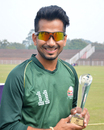 Left-arm spinner Gurinder Singh was Man of the Match for his five-for, DAV College v SRM University, Red Bull Campus Cricket 2014, Chandigarh, February 3, 2014