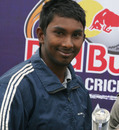 Jain University's R Prabhakar was named Man of the Match, Jain University Bangalore v RLA College Delhi, Red Bull Campus Cricket 2014, Chandigarh, February 4, 2014