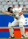 Peter Fulton ducks under a short ball, New Zealand v India, 1st Test, Auckland, 1st day, February 6, 2014
