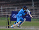 Rao Manish attacks the off side, D.A.V College v Rizvi Mumbai, Red Bull Campus Cricket National Final, 1st semi-final, Chandigarh