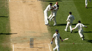 MS Dhoni's wicket brought about wild celebrations