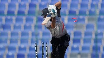Shorye Chopra is bowled