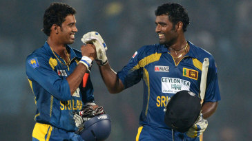 Sachithra Senanayake and Thisara Perera steered Sri Lanka home