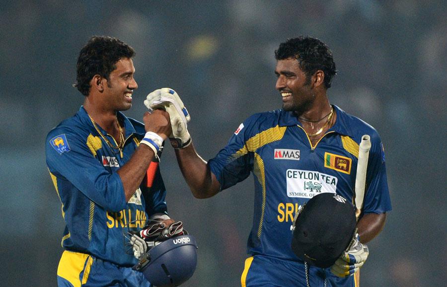 Sachithra Senanayake and Thisara Perera steered Sri Lanka home