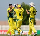 Matthew Fotia finished with 3 for 23, Australia v Namibia, Under-19 World Cup, Group B, Abu Dhabi, February 15, 2014