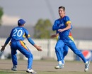 JJ Smit exults after taking a wicket, Australia v Namibia, Under-19 World Cup, Group B, Abu Dhabi, February 15, 2014