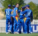 Bredell Wessells celebrates a wicket with team-mates, Australia v Namibia, Under-19 World Cup, Group B, Abu Dhabi, February 15, 2014