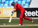 Jonathan Tattersall comes down the ground, England Under-19s v Sri Lanka Under-19s, ICC Under-19 World Cup, Dubai, February 16, 2014