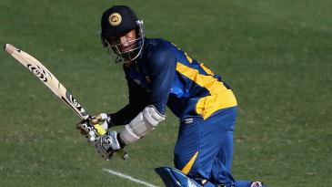 Sadeera Samarawickrama bats for Sri Lanka Under-19s