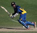 Sadeera Samarawickrama bats for Sri Lanka Under-19s, England Under-19s v Sri Lanka Under-19s, ICC Under-19 World Cup, Dubai, February 16, 2014