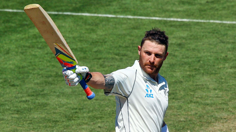 Brendon McCullum scored his second double-century of the series