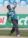 Chayank Gosain in delivery stride, India Under-19s v Scotland Under-19s, Under-19 World Cup, Dubai, February 17, 2014