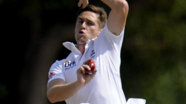 Chris Woakes was economical on day one