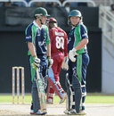 Ed Joyce and Andrew Poynter put on 58 for the fourth wicket, West Indies v Ireland, 1st T20, Kingston, February 19, 2014