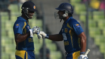 Angelo Mathews and Kumar Sangakkara put on 83 together
