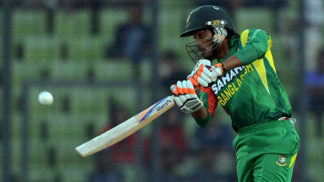 Anamul Haque drives on the up