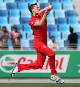 Matthew Fisher took three Indian wickets early, India v England, Under-19 World Cup 2014, quarter-final, Dubai, February 22, 2014