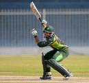Imam-ul-Haq plays off one hand, Pakistan v Sri Lanka, quarter-final, Under-19 World Cup, Sharjah, February 22, 2014