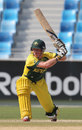 Jaron Morgan sets up for a shot, Australia v West Indies, Under-19 World Cup 2014, quarter-final, Dubai, February 23, 2014