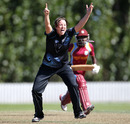 Holly Huddleston took her maiden five-wicket haul, New Zealand v West Indies, 2nd Women's ODI, Lincoln, February 24, 2014