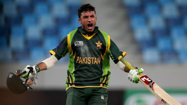 Zafar Gohar exults after taking Pakistan to the final