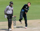 Josh Finnie picked up two wickets in his three overs, UAE v New Zealand, 2nd Plate Semi-Final, Under-19 World Cup, Abu Dhabi, February 25, 2014