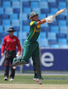 Clyde Fortuin goes on the attack, Australia v South Africa, semi-final, Under-19 World Cup, Dubai, February 26, 2014