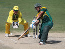 Clyde Fortuin targets the off side, Australia v South Africa, semi-final, Under-19 World Cup, Dubai, February 26, 2014