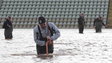 The severe flooding has left major battles for the Worcestershire groundstaff