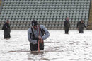 The severe flooding has left major battles for the Worcestershire groundstaff, New Road, February 18, 2014