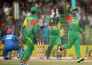 Naeem Islam celebrates after Nawroz Mangal is run-out, Bangladesh v Afghanistan, Asia Cup, Fatullah, March 1, 2014
