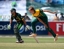 Justin Dill hurls down a delivery, Pakistan v South Africa, Final, Under-19 World Cup, Dubai, March 1, 2014