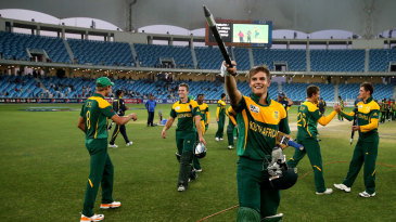 Aiden Markram leads South Africa's celebrations