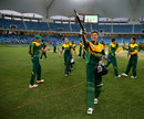 Aiden Markram leads South Africa's celebrations, Pakistan v South Africa, Final, Under-19 World Cup, Dubai, March 1, 2014