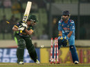 Sharjeel Khan was bowled by a carrom ball, India v Pakistan, Asia Cup, Mirpur, March 2, 2014