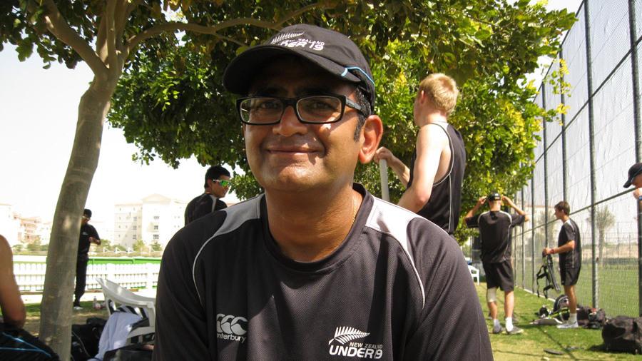 New Zealand U-19 team manager Kaushik Patel