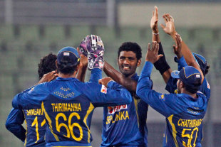 Thisara Perera claimed three wickets, Afghanistan v Sri Lanka, Asia Cup, Mirpur