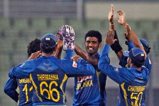 Thisara Perera claimed three wickets, Afghanistan v Sri Lanka, Asia Cup, Mirpur