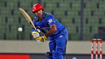 Asghar Stanikzai flicks to midwicket