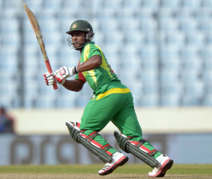 Imrul Kayes struck five fours and two sixes, Bangladesh v Pakistan, Asia Cup, Mirpur, March 4, 2014