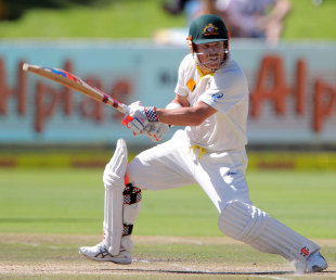 David Warner cuts for four, South Africa v Australia, 3rd Test, Cape Town, 4th day, March 4, 2014